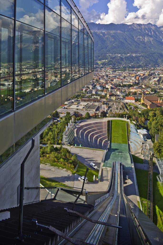 The view from the top of the Bergisel ski jump